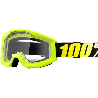 Okuliare 100% Strata neon yellow číre