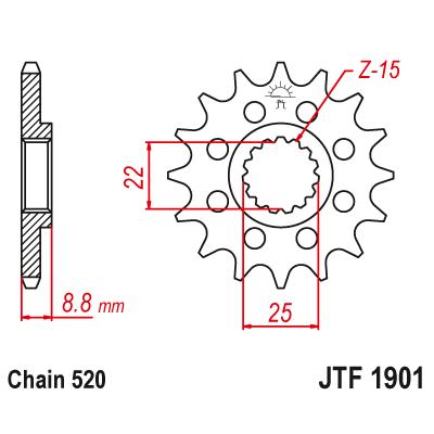 Kolečko JT sprockets JTF1901SC 14z.