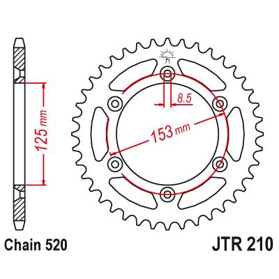 Rozeta JT Sprockets JTR210 50z.