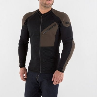 Tričko Knox Urbane - chránič čierno-hnedé, na motorku