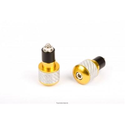 Koncovka riaditka Ø17 EMBOU66 biely carbon zlata