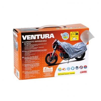 Plachta na moto Ventura sivá M