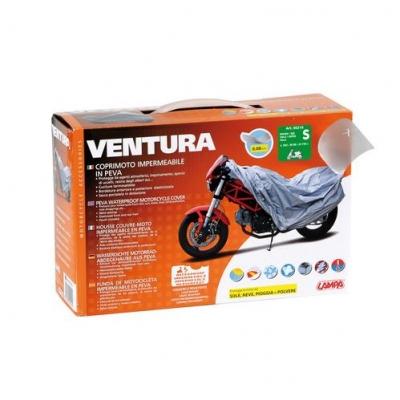 Plachta na moto Ventura sivá S