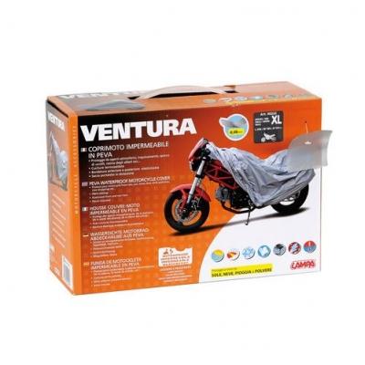 Plachta na moto Ventura sivá XL