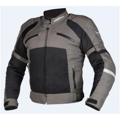 Textílna bunda Rebelhorn Hiflow II Lady čierno-sivá, na motorku