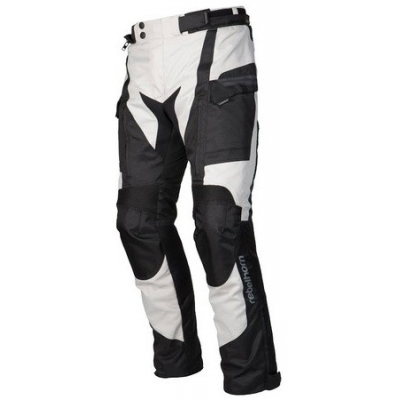 Textilne nohavice Rebelhorn Cubby II čierno-sivé, na motorku