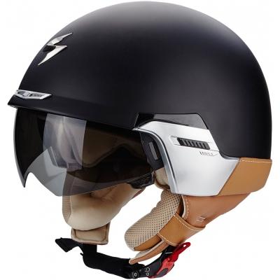 Prilba Scorpion EXO-100 Padova II čierno-hnedá matná, na motorku