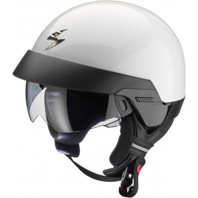 Prilba Scorpion EXO-100 Solid biela, na motorku