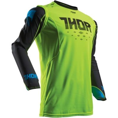 Dres Thor Prime Fit Rohl 2018 čierno-zelený, na motorku