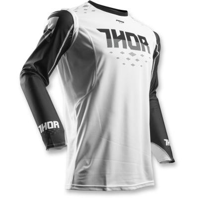 Dres Thor Prime Fit Rohl 2018 čierno-biely, na motorku
