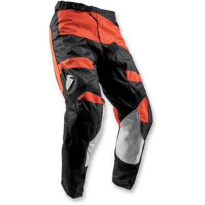 Nohavice Thor Pulse Level 2018 čierno-červeno-oranžové, na motorku