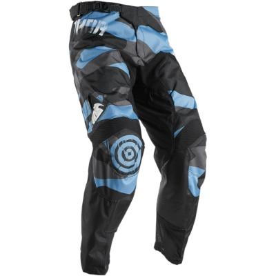 Nohavice Thor Pulse Covert 2018 čierno-modré, na motorku