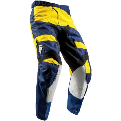 Detské nohavice Thor Pulse Level 2018 modro-žlté, na motorku