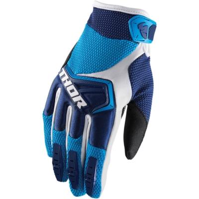 Detské rukavice Thor Spectrum 2018 tmavomodro-modro-biele, na motorku