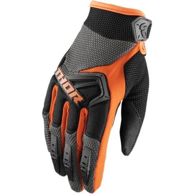 Detské rukavice Thor Spectrum 2018 čierno-oranžové, na motorku