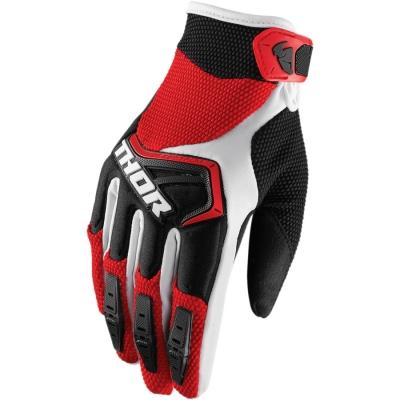 Detské rukavice Thor Spectrum 2018 čierno-bielo-červené, na motorku