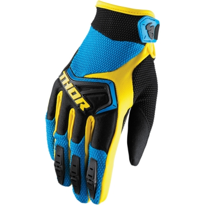 Detské rukavice Thor Spectrum 2018 čierno-modro-žlté, na motorku