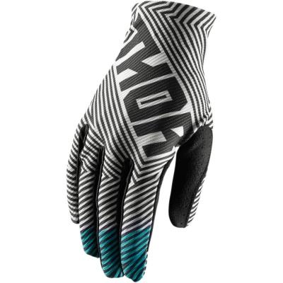Detské rukavice Thor Void Geotec 2018 čierno-tyrkysové, na motorku