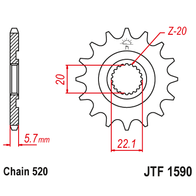 Kolečko JT sprockets JTF1590SC 13z.