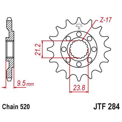 Kolečko JT sprockets JTF284SC 13z.