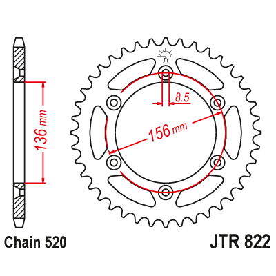 Rozeta JT Sprockets JTR822 48z.