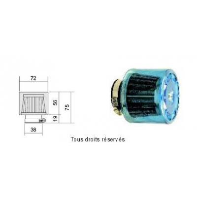 Tuningový vzduchový filter Ø38 l75, 98FR03