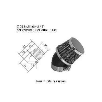Tuningovy vzduchový filter Ø32 l97, 98FR10