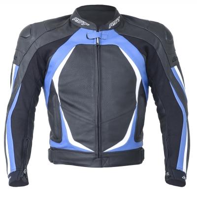 Kožená bunda RST Blade II čierno-modrá, na motorku