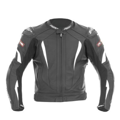 Kožená bunda RST R-16 čierno-biela, na motorku