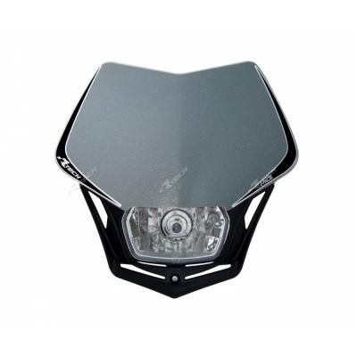 Predná maska so svetlom V-FACE sivo čierna