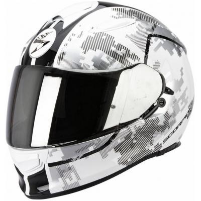 Prilba Scorpion EXO-510 Guard bielo-čierna, na motorku