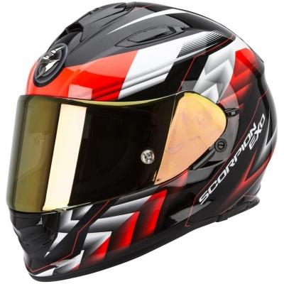 Prilba Scorpion EXO-510 Scale čierno-neónovočervená, na motorku