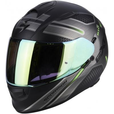 Prilba Scorpion EXO-510 AIR Route čierno-zelená, na motorku