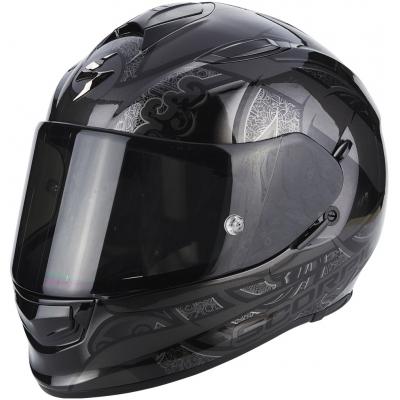 Prilba Scorpion EXO-510 AIR Arabecs čierna, na motorku