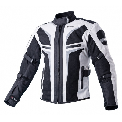 Textilná bunda SECA Stream II Lady čierno-sivá, na motorku