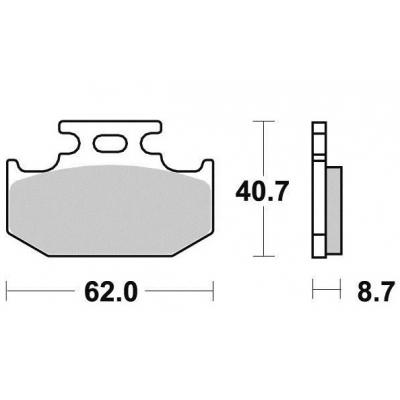 Brzdové doštičky Vesrah VD432JL sintrované zadné